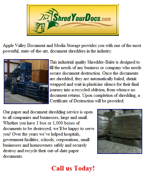Paper And Document Shredding In Hesperia